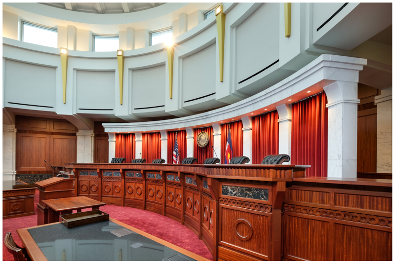 Architectural Photography of the Colorado Supreme Court by Shutter Avenue Photography